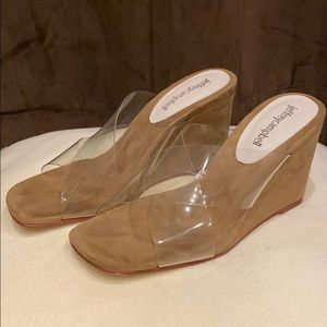 Jeffrey Campbell clear wedges